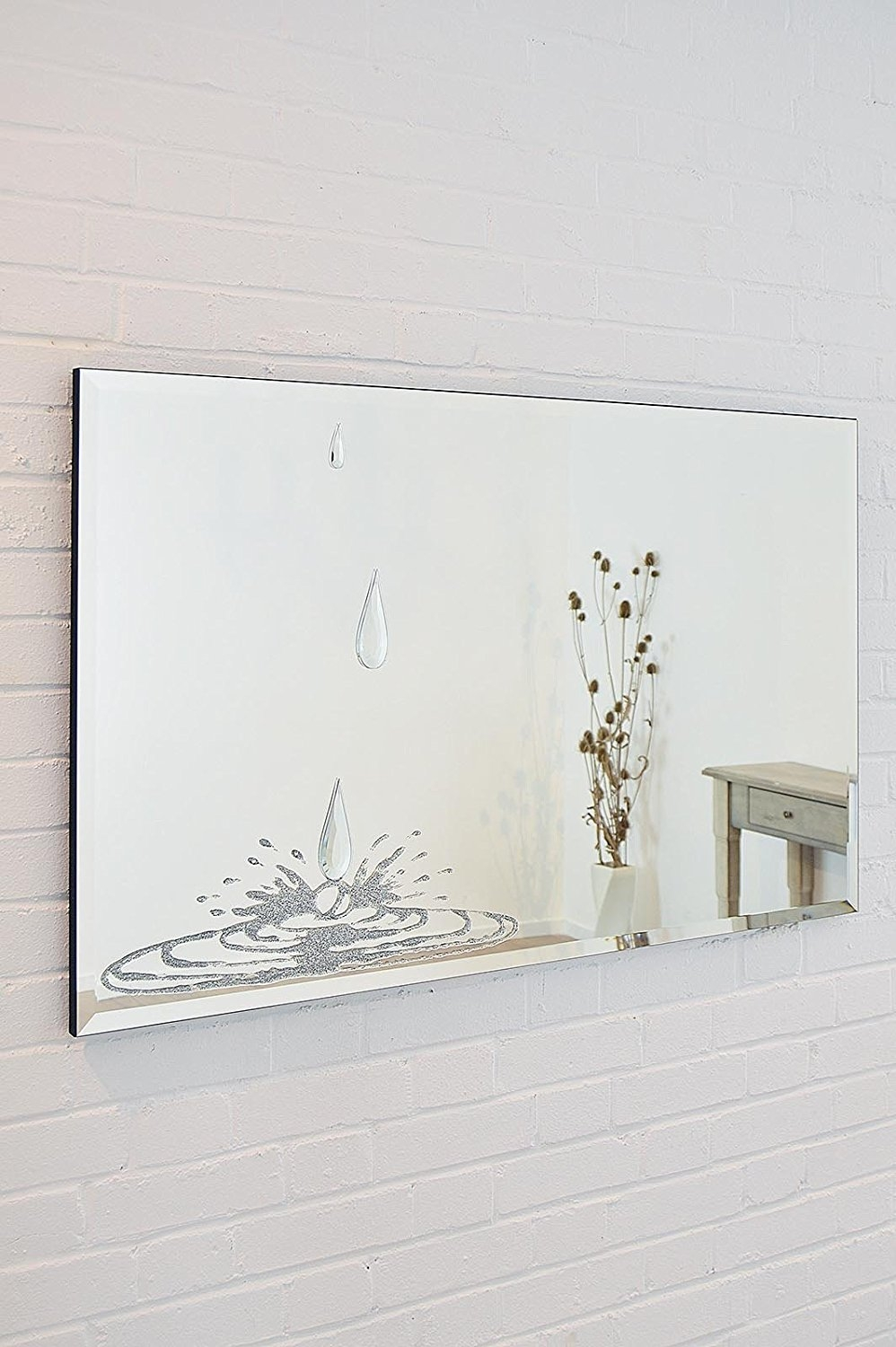Cm Sylvatica Bevelled Mirror With Liquid Glass Tears With Swarovski Mirrors (Image 4 of 15)