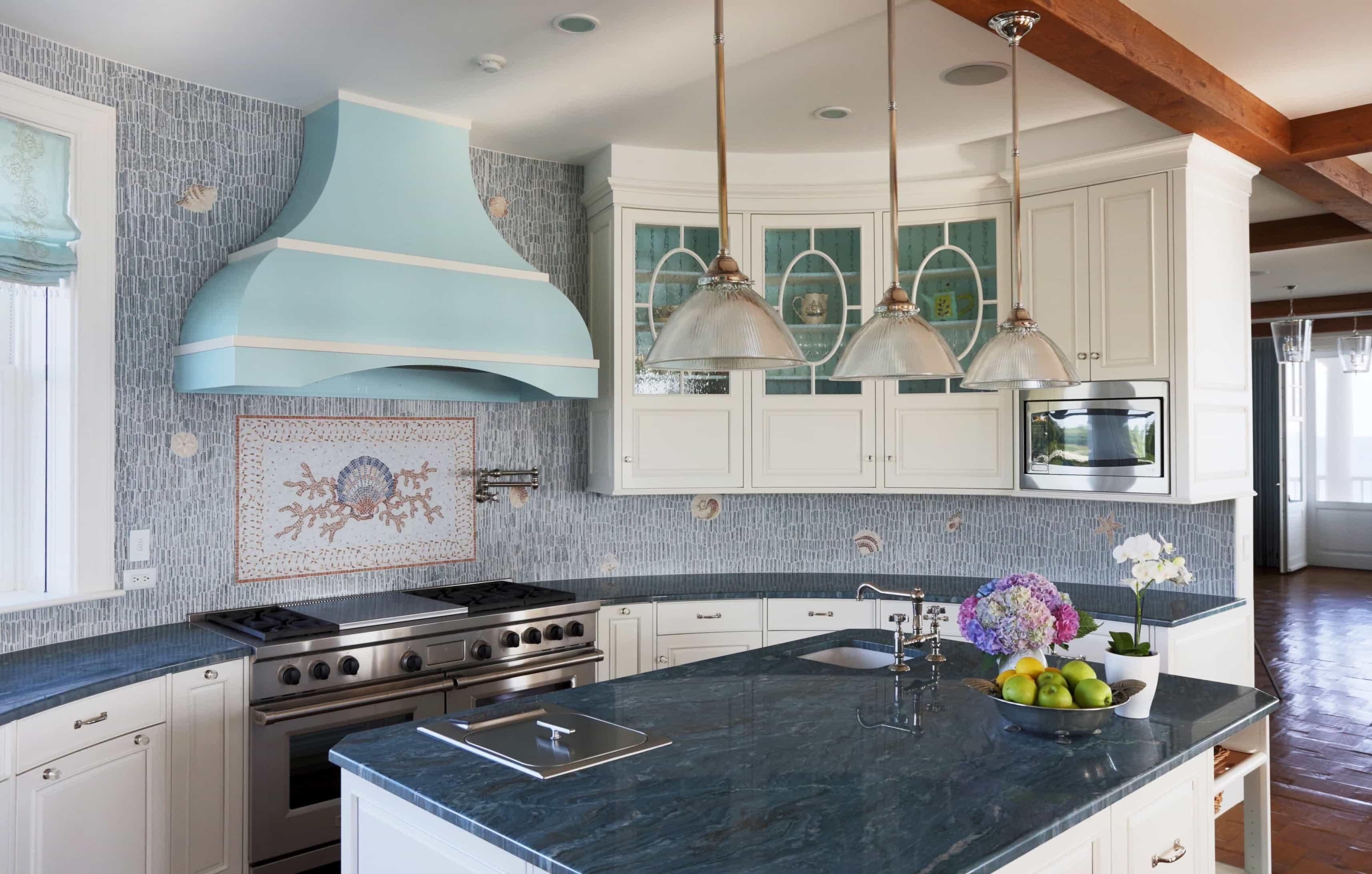 Coastal kitchen backsplash in the chef kitchen 50392 for Nautical kitchen backsplash