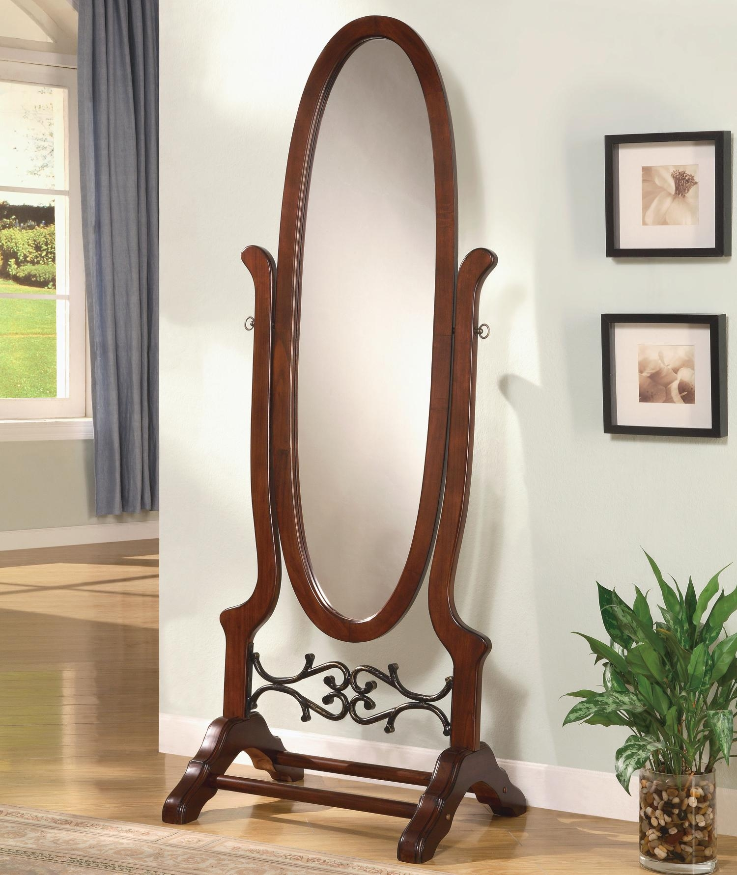 Coaster Accent Mirrors Cheval Oval Mirror Del Sol Furniture Intended For Free Standing Oval Mirror (Image 7 of 15)