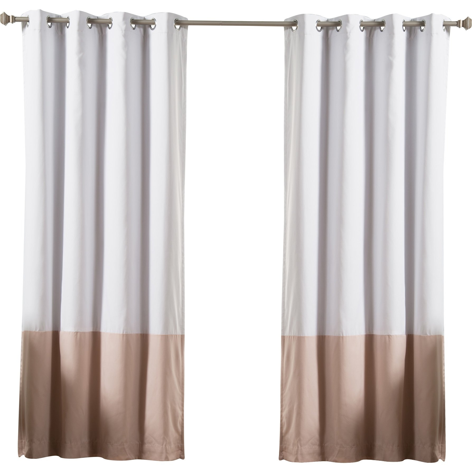 Color Block Cotton Blend Striped Blackout Thermal Grommet Curtain With Regard To Striped Thermal Curtains (Image 6 of 15)
