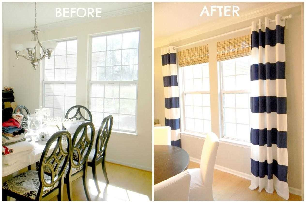 Colorful Curtains Ideas Home Black And White Striped Curtains Regarding Thick Striped Curtains (Image 7 of 15)