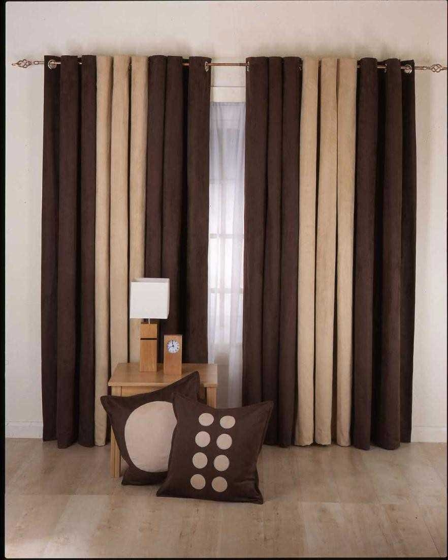 Colorful Curtains Silk Adding Modern Brown Curtains For Living Intended For Black And Brown Curtains (Photo 6 of 15)
