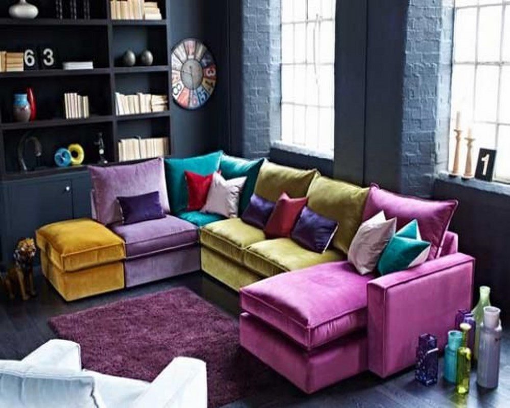 Featured Image of Colorful Sectional Sofas