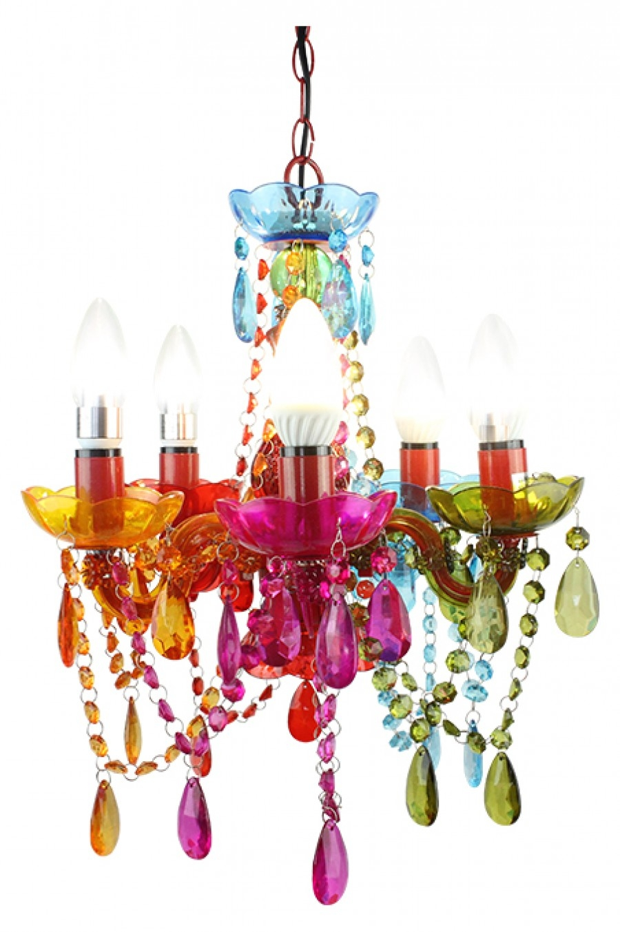 Coloured Chandelier Small Intended For Coloured Chandeliers (Image 7 of 15)