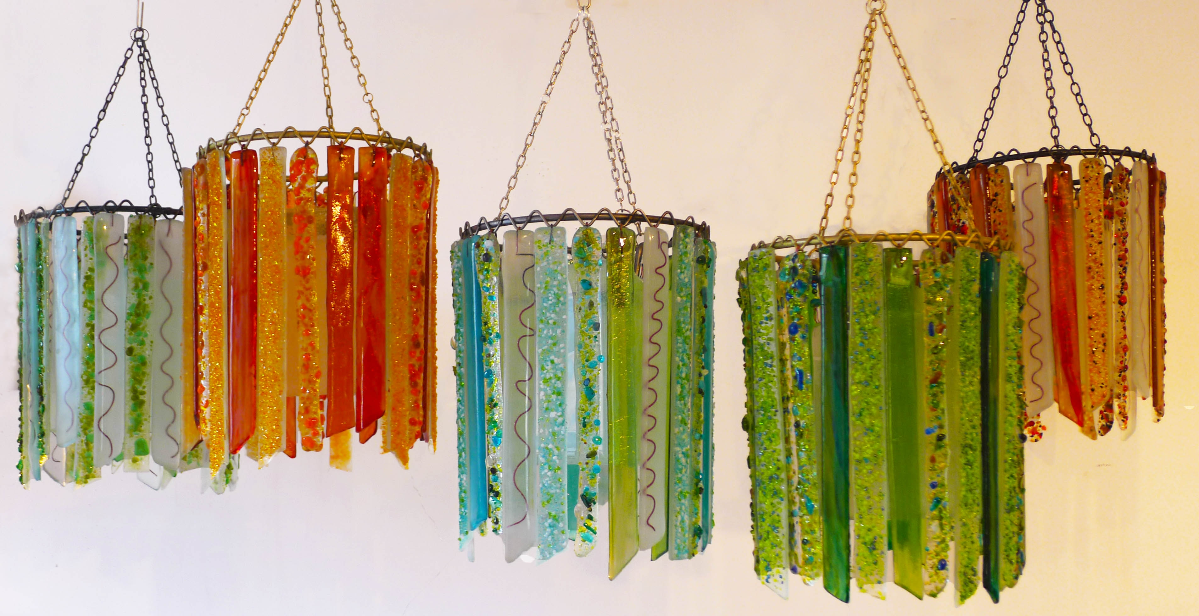 Coloured Glass Light Shades Roselawnlutheran With Regard To Coloured Glass Chandelier (Image 3 of 15)