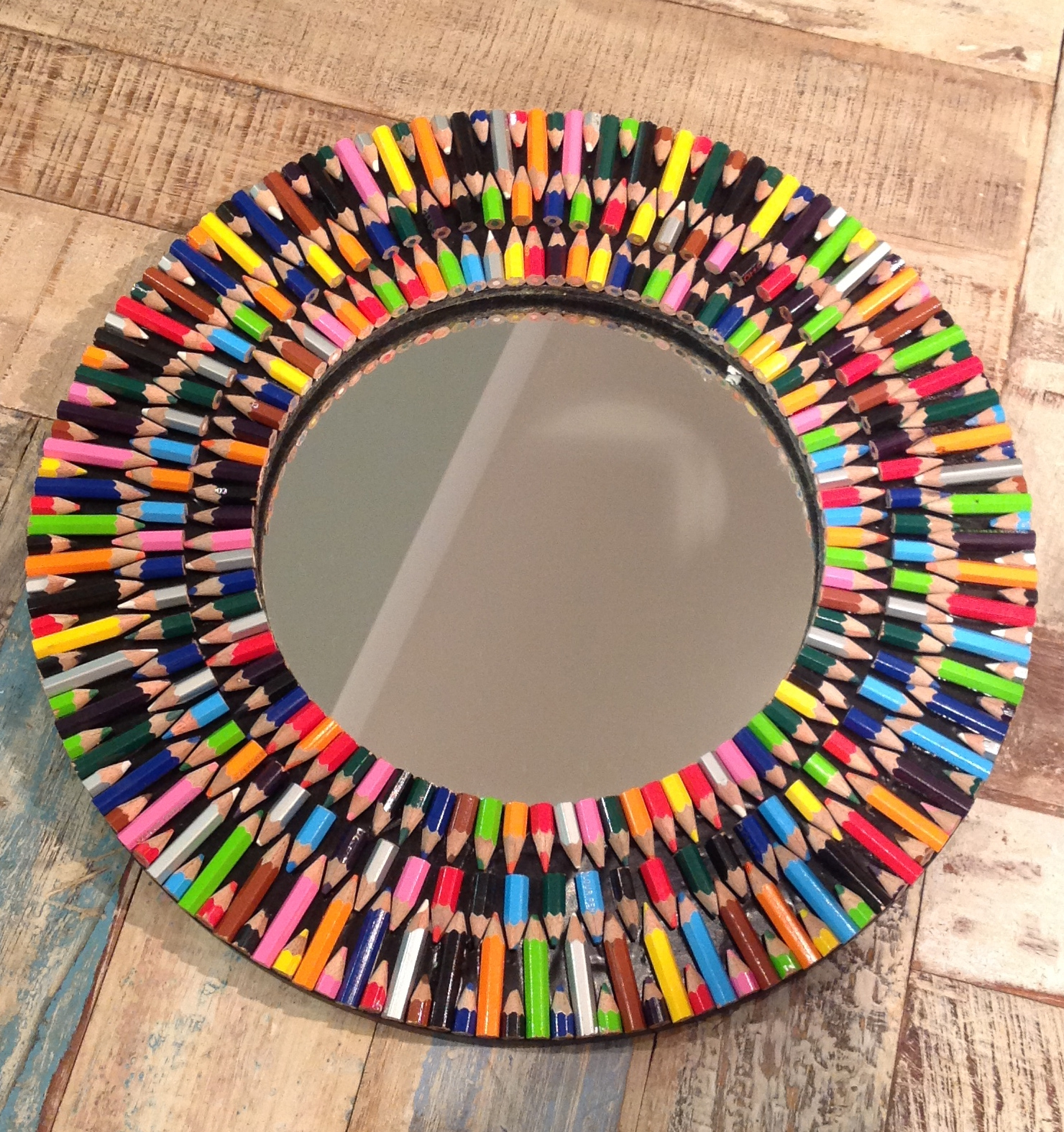 Colourful Funky Coloured Pencil Mirror Within Large Funky Mirrors (View 15 of 15)