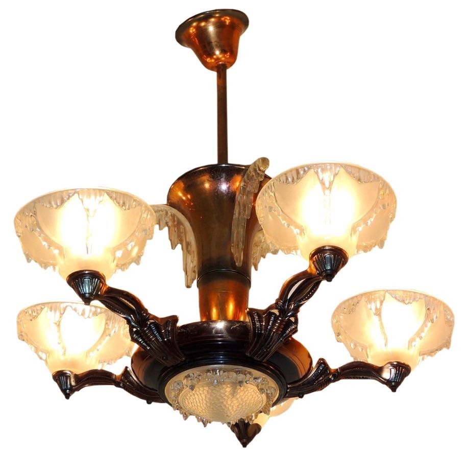 Compact Art Deco Chandelier Lighting 53 Art Nouveau Lighting With Large Art Deco Chandelier (Image 9 of 15)
