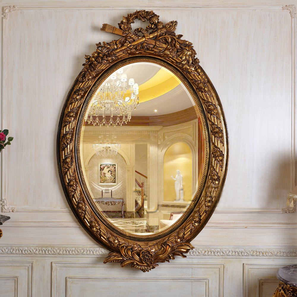 Compare Prices On Gold Framed Antique Mirror Online Shoppingbuy Throughout Antique Mirror Online (Image 8 of 15)