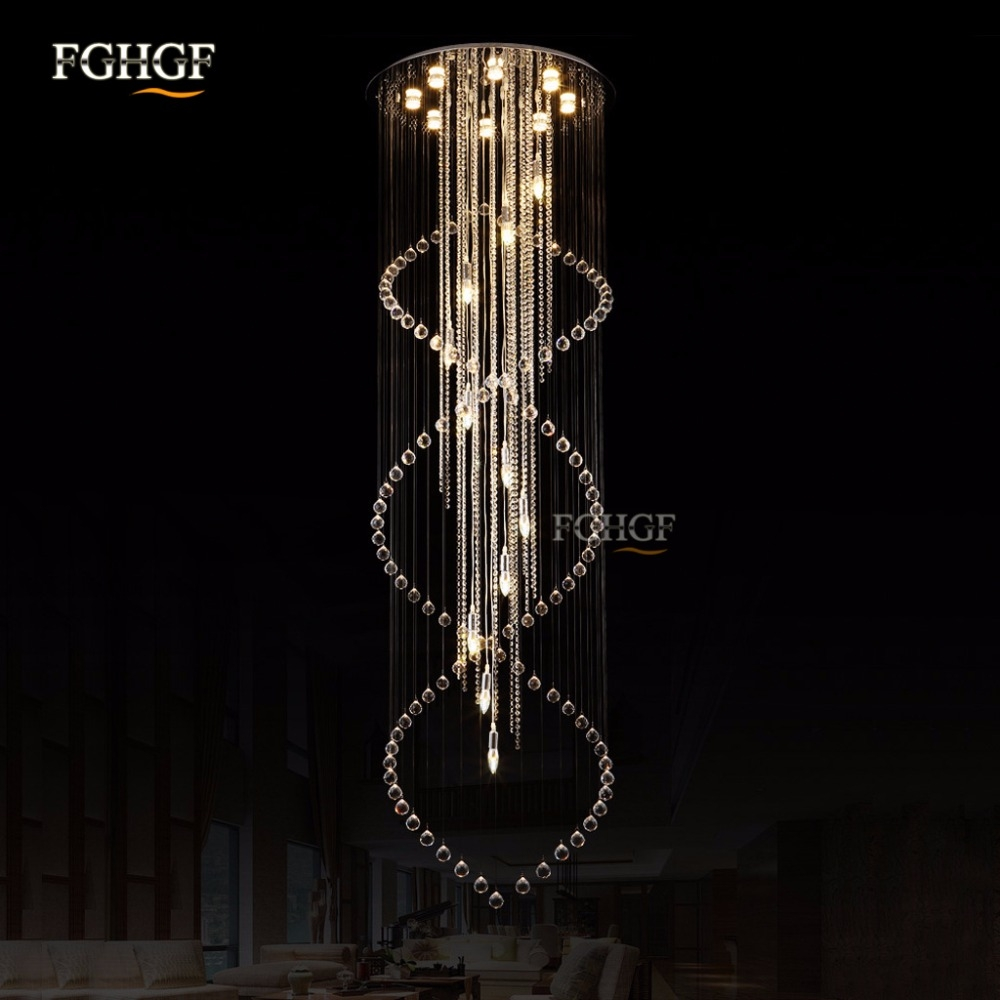 Compare Prices On Long Crystal Chandelier Online Shoppingbuy Low Inside Long Chandelier Lighting (View 7 of 15)