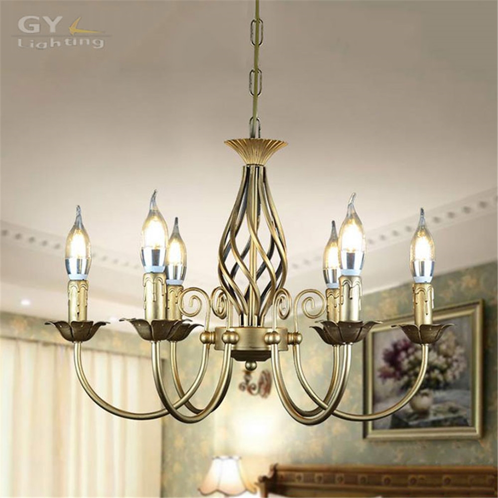 Compare Prices On Wrought Iron Candle Chandelier Online Shopping Within Vintage Wrought Iron Chandelier (Image 5 of 15)