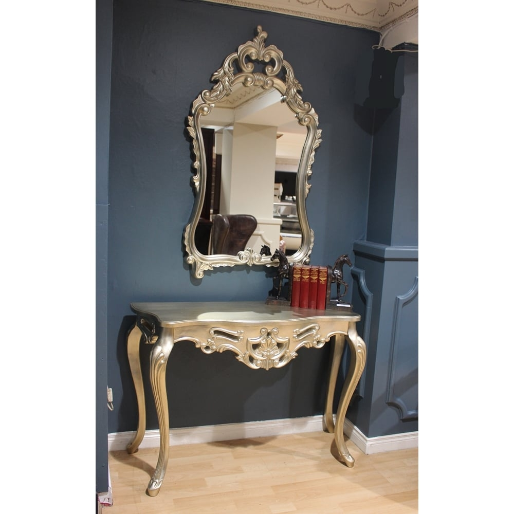 Consoles Mirrors Inside Ornate Dressing Table Mirror (Image 3 of 15)