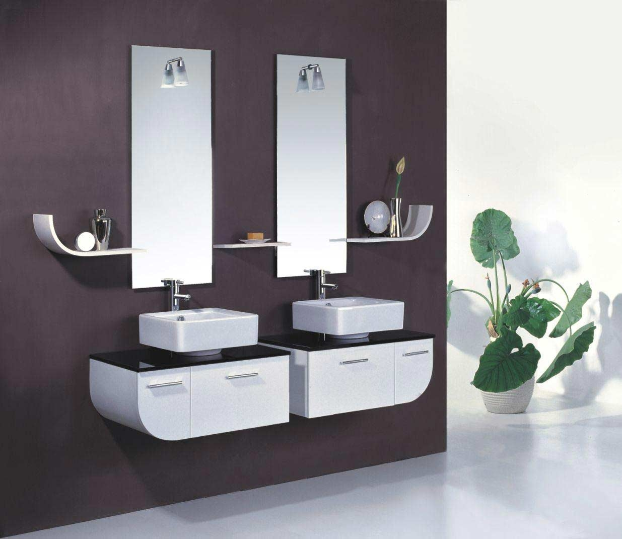 Contemporary Bathroom Mirrors Pertaining To Contemporary White Mirror (Image 3 of 15)