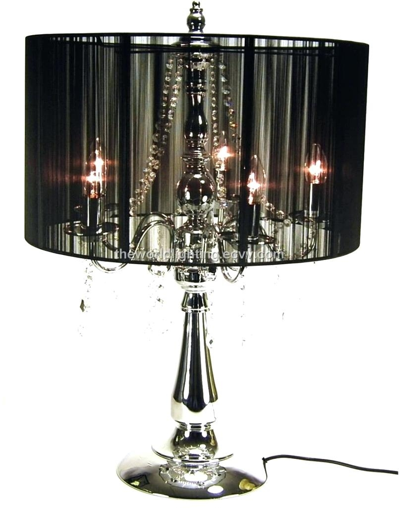 Contemporary Black Chandelier Black Chandelier Table Lamp Warisan With Regard To Contemporary Black Chandelier (Image 7 of 15)