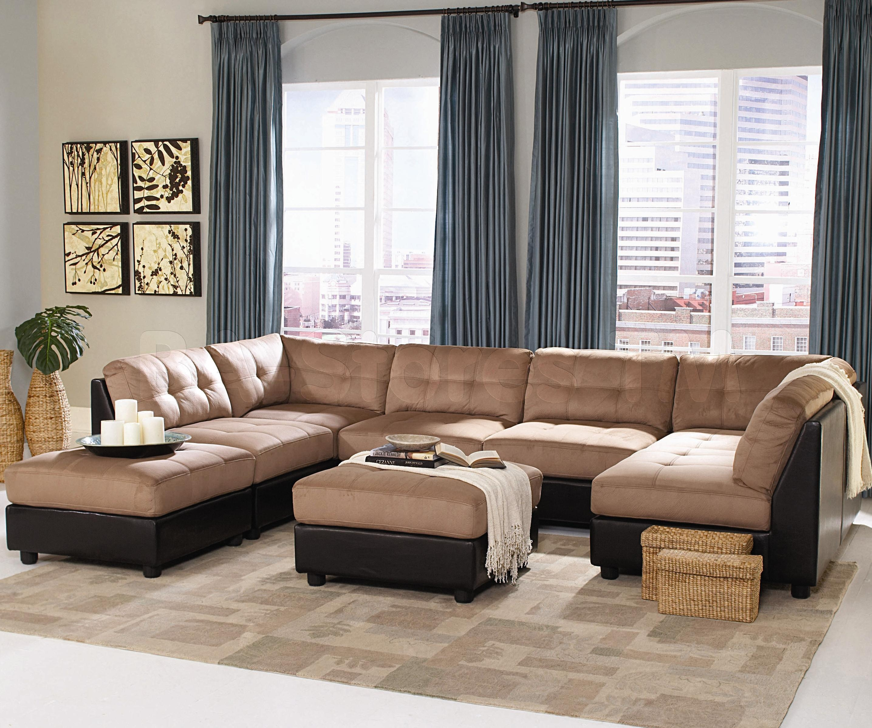Contemporary Black Leather Sectional Sofa Left Side Chaise With Regard To Contemporary Black Leather Sectional Sofa Left Side Chaise (Image 8 of 15)