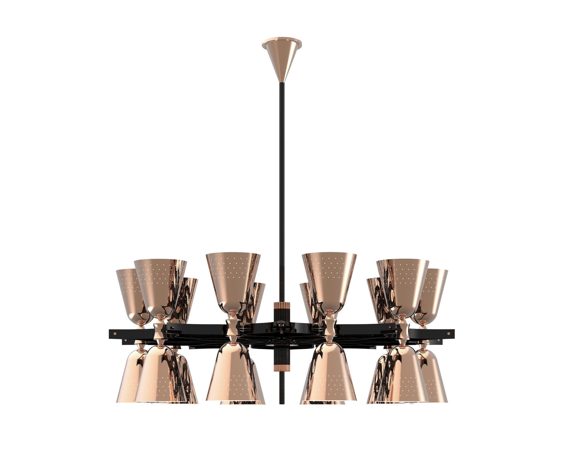 Contemporary Chandelier Brass Incandescent Charles 20 Inside Black Contemporary Chandelier (View 11 of 15)