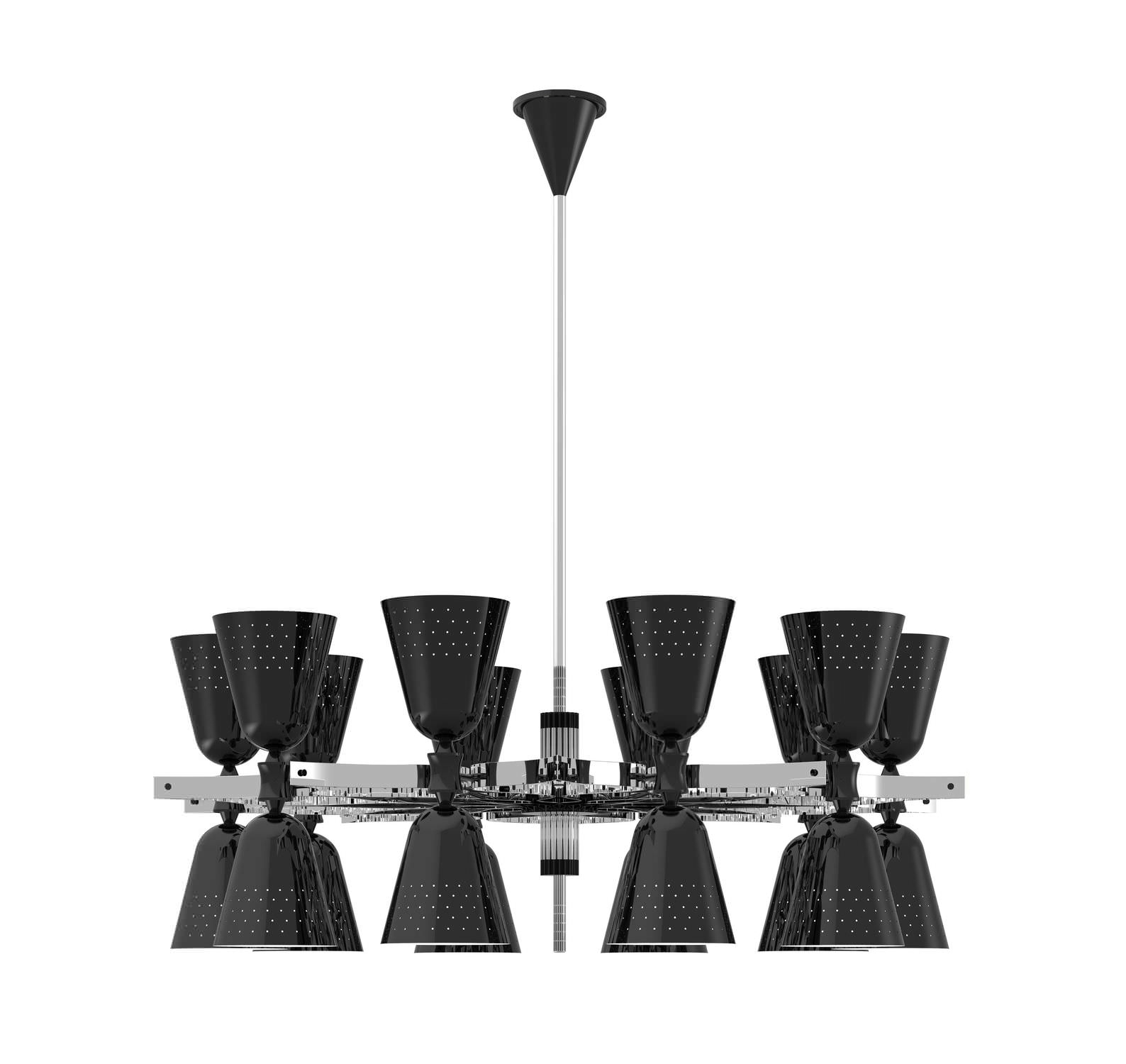 Contemporary Chandelier Brass Incandescent Charles 20 Intended For Black Contemporary Chandelier (View 6 of 15)