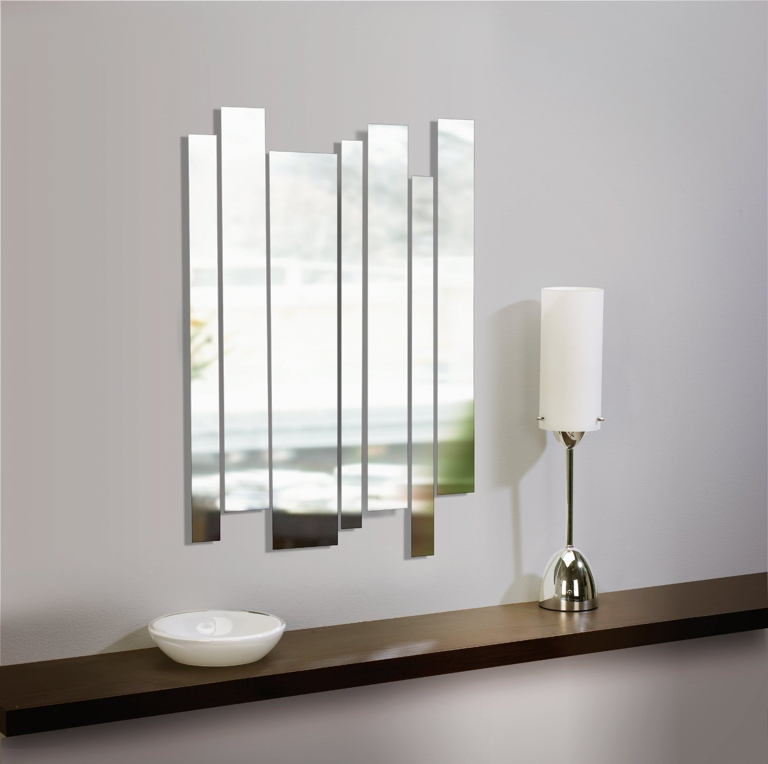 Contemporary Design Panel Wall Mirror Pretty Inspiration Ideas Intended For Funky Mirrors Image 3