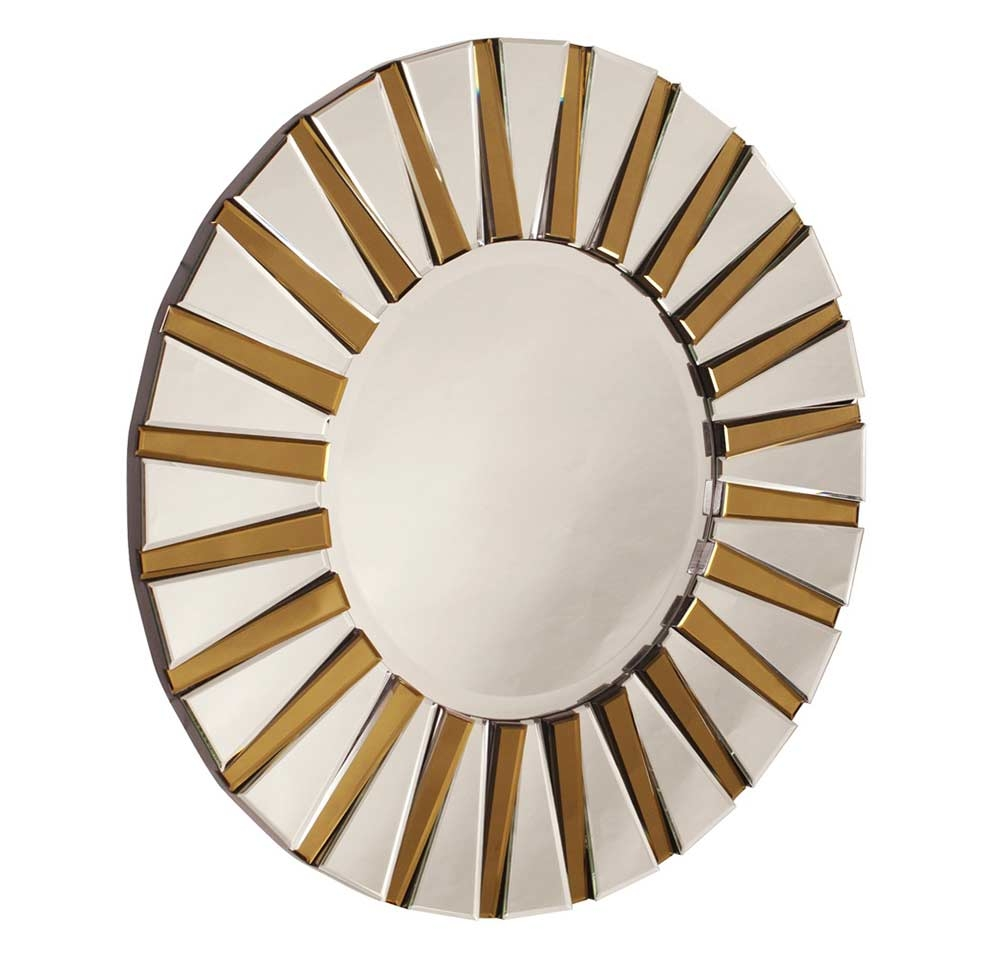 Contemporary Designer Round Mirror Hre 011 Accent Mirrors Pertaining To Unusual Round Mirrors (Image 4 of 15)