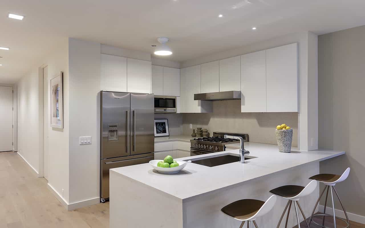 Contemporary Fitted Kitchen Packages With Flat Furniture (Image 2 of 15)