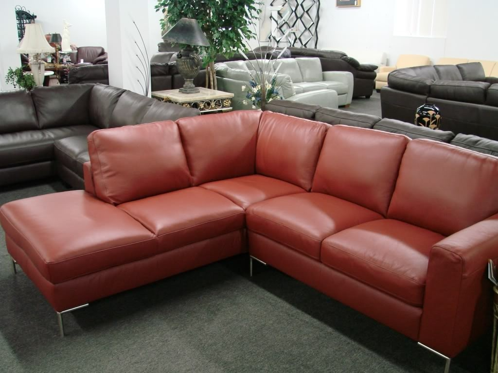 Contemporary Italian Leather Sectional Sofa Regarding Camel Sectional Sofa (View 10 of 15)