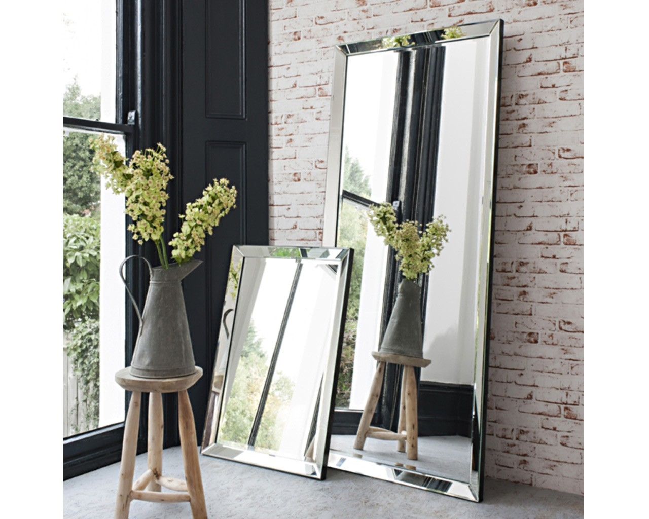 Contemporary Leaner Mirror Complete Any Room With This Throughout Large Glass Bevelled Wall Mirror (Image 3 of 15)