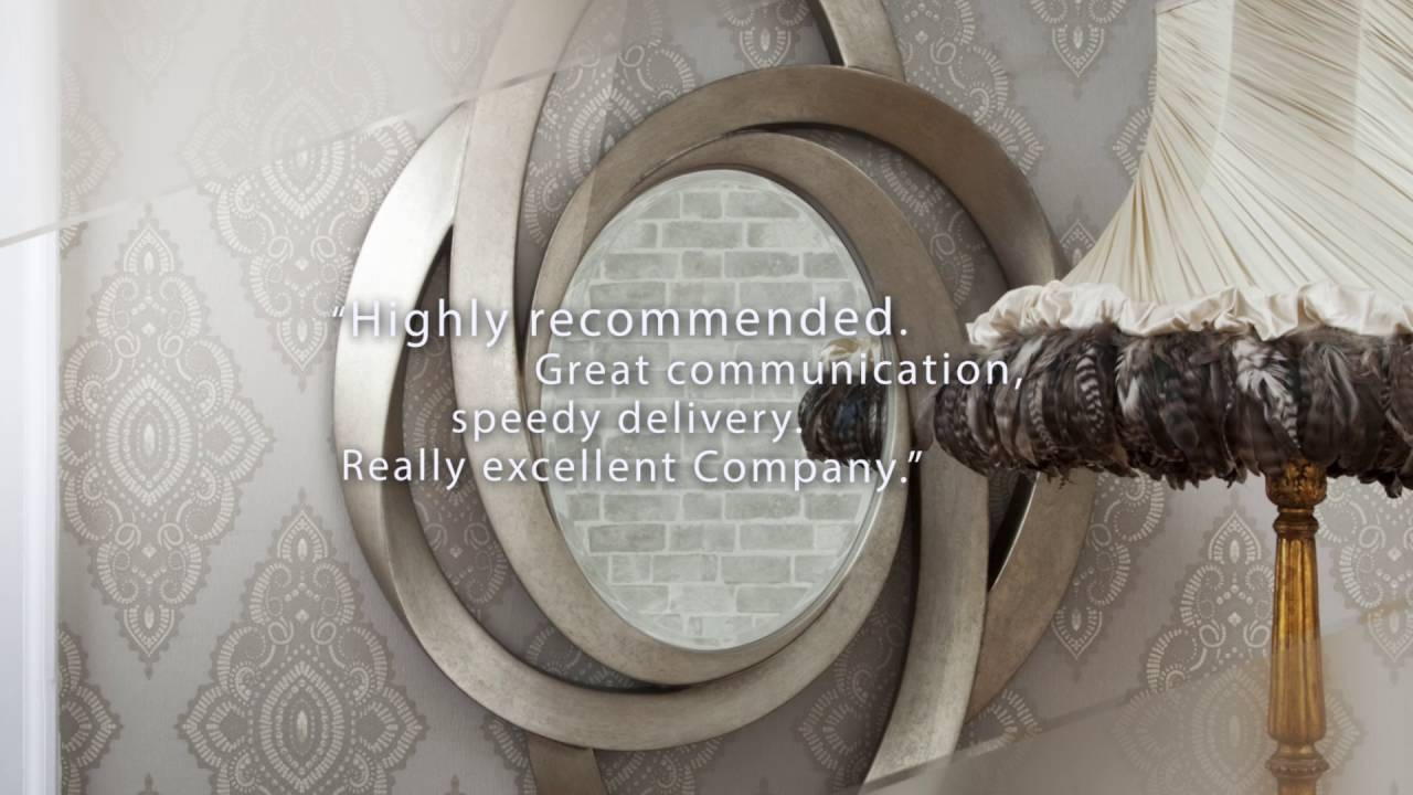 Contemporary Mirrors Decorative Mirrors Online Youtube For Contempory Mirrors (Image 1 of 15)