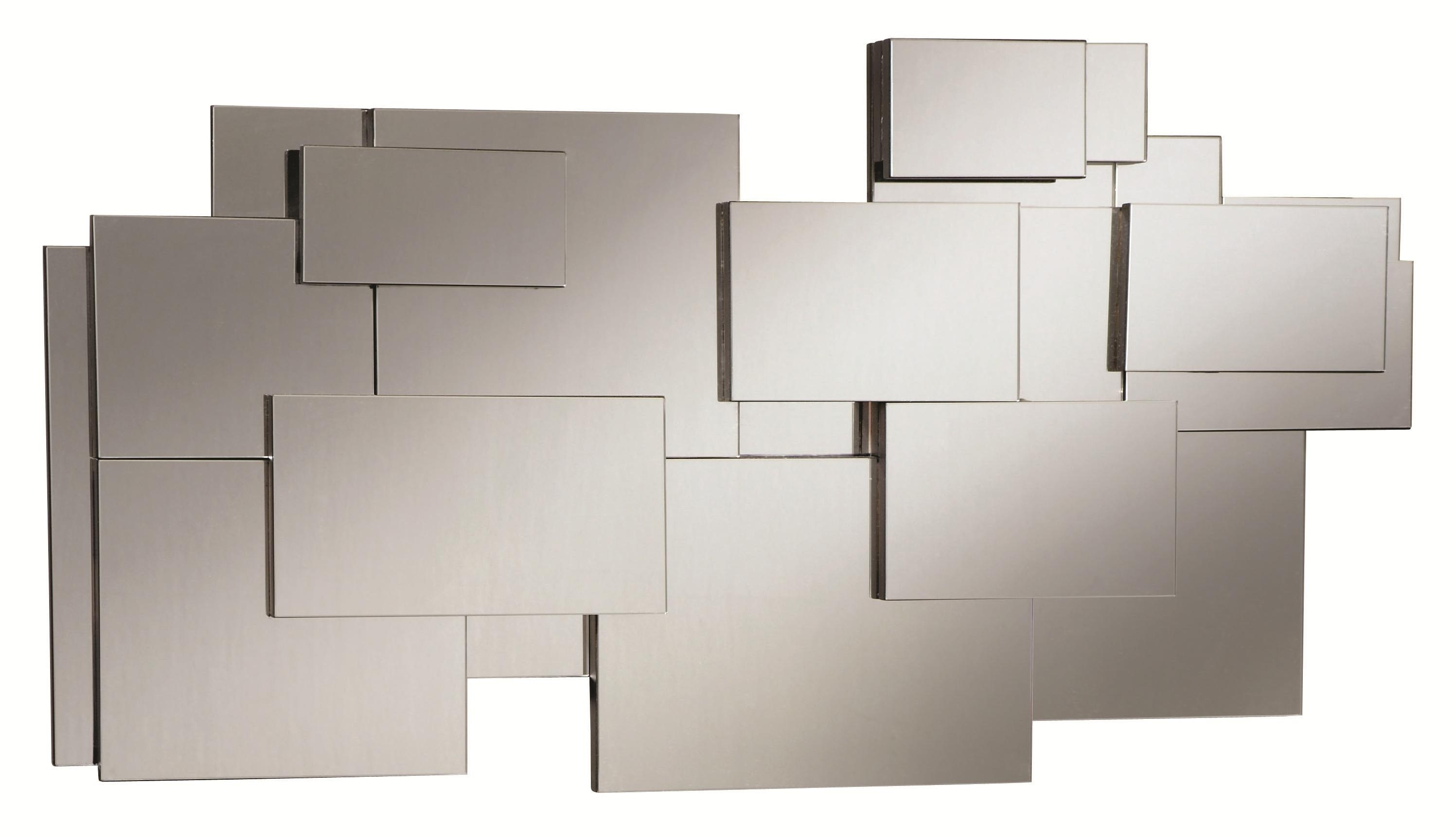 Contemporary Stacked Wall Mirror Throughout Contemporary Wall Mirror (Image 3 of 15)