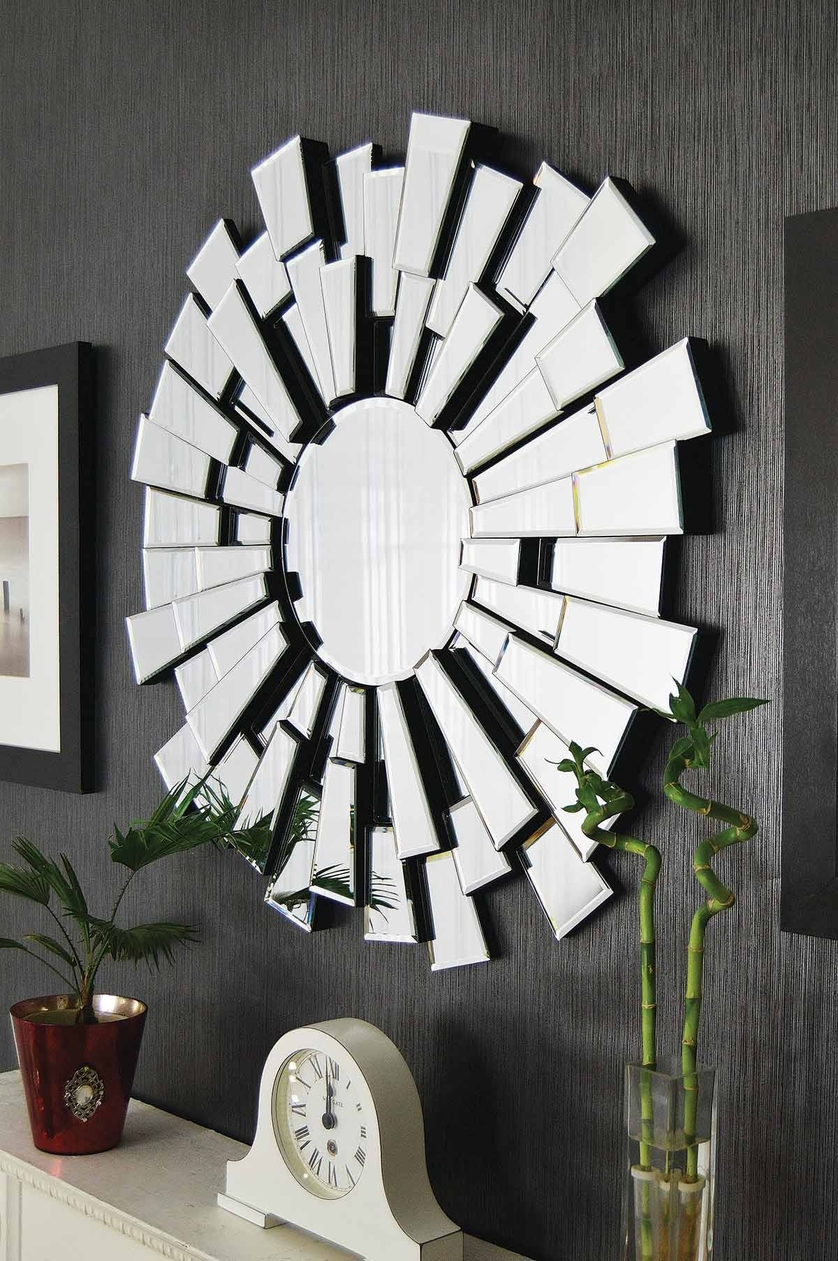 Contemporary Wall Mirrors Decorative Inarace In Contemporary Round Mirrors (Image 4 of 15)
