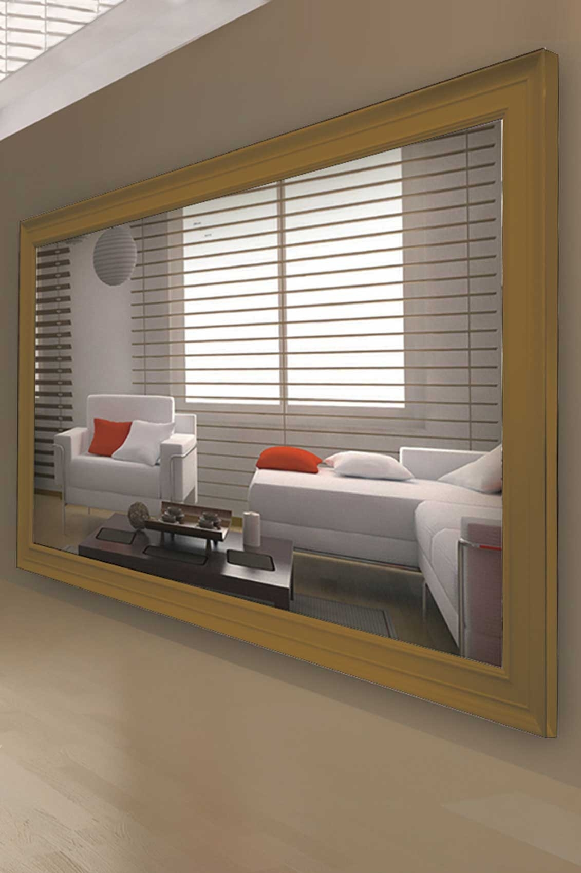 Contemporary Wall Mirrors Intended For Large Contemporary Mirror (Image 2 of 15)