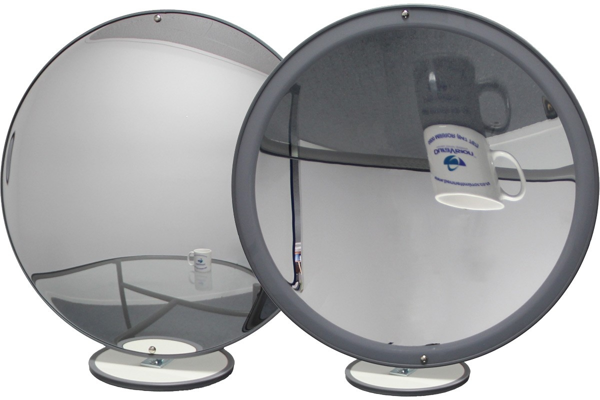 Convex And Concave Mirrors Group Within Curved Mirrors For Sale (Image 3 of 15)