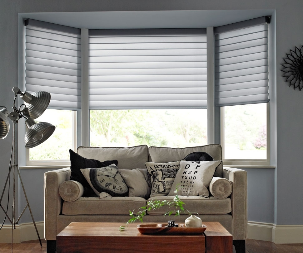 Cool Window Treatments For Bay Windows Inspiration Home Designs For Bay Window Blinds And Curtains (Image 6 of 15)