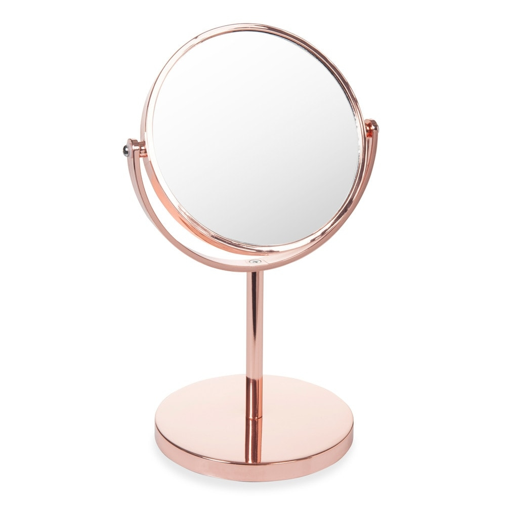 Copper Ideas For The Bedroom Swaggy Copper Table Mirror In Pertaining To Gold Table Mirror (Image 5 of 15)