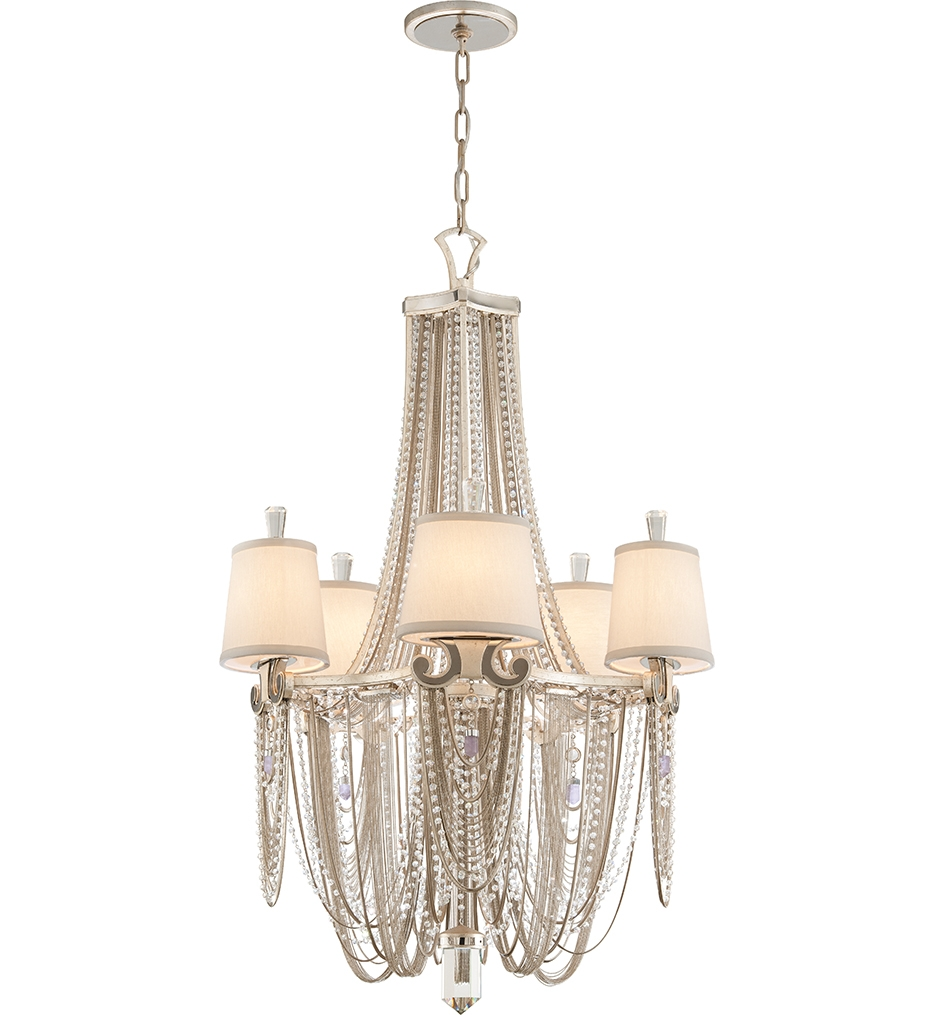 Corbett Lighting 157 05 Flirt 5 Light Modern Silver Chandelier In Modern Silver Chandelier (Image 7 of 15)