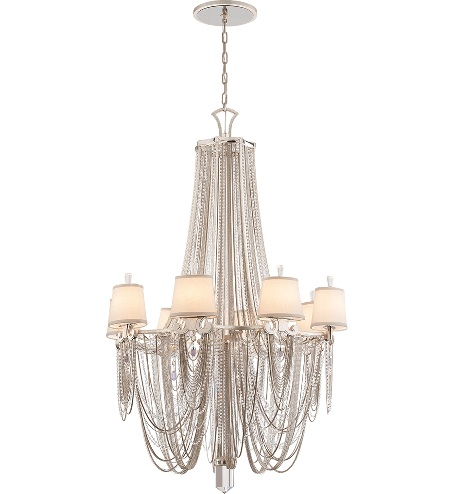 Corbett Lighting 157 08 Flirt 8 Light Modern Silver Chandelier Regarding Modern Silver Chandelier (Image 8 of 15)