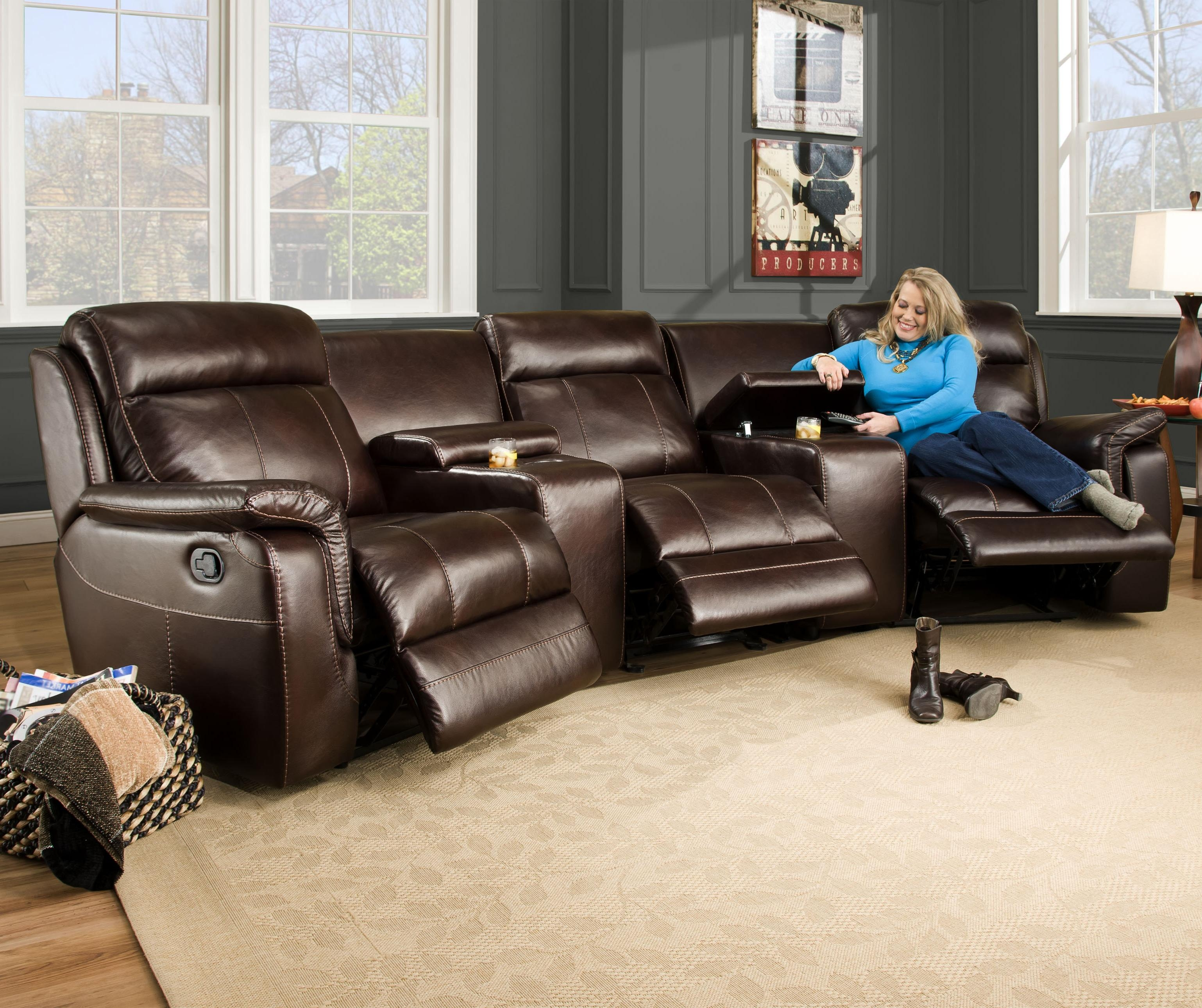 Corinthian 862 Sectional Sofa With 5 Seats 2 Are Wall Away Regarding Corinthian Sectional Sofas (Image 4 of 15)