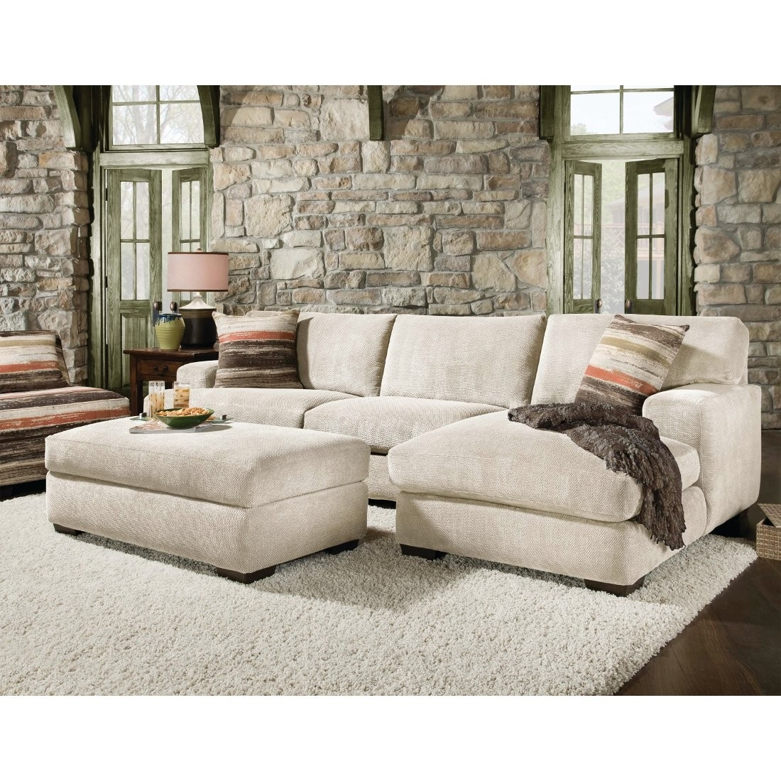 Corinthian Mead Sectional Sofa Piece Cream 48a3lf Conns Within Corinthian Sectional Sofas (Image 7 of 15)