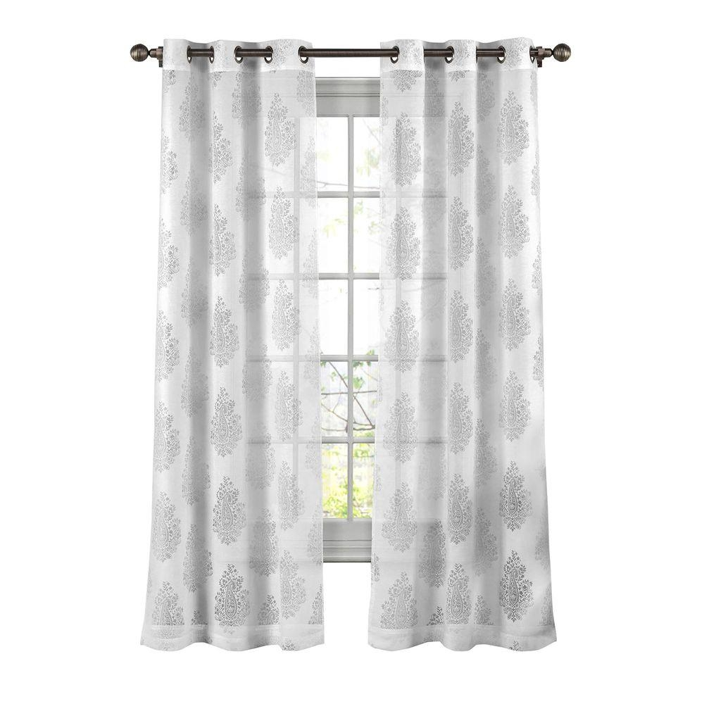 Cotton Sheer Curtains Drapes Window Treatments The Home Regarding White Sheer Cotton Curtains (Image 4 of 15)