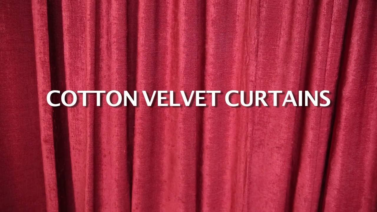 Cotton Velvet Curtains For Sale Lushes Curtains Throughout Velvet Material For Curtains (Image 1 of 15)
