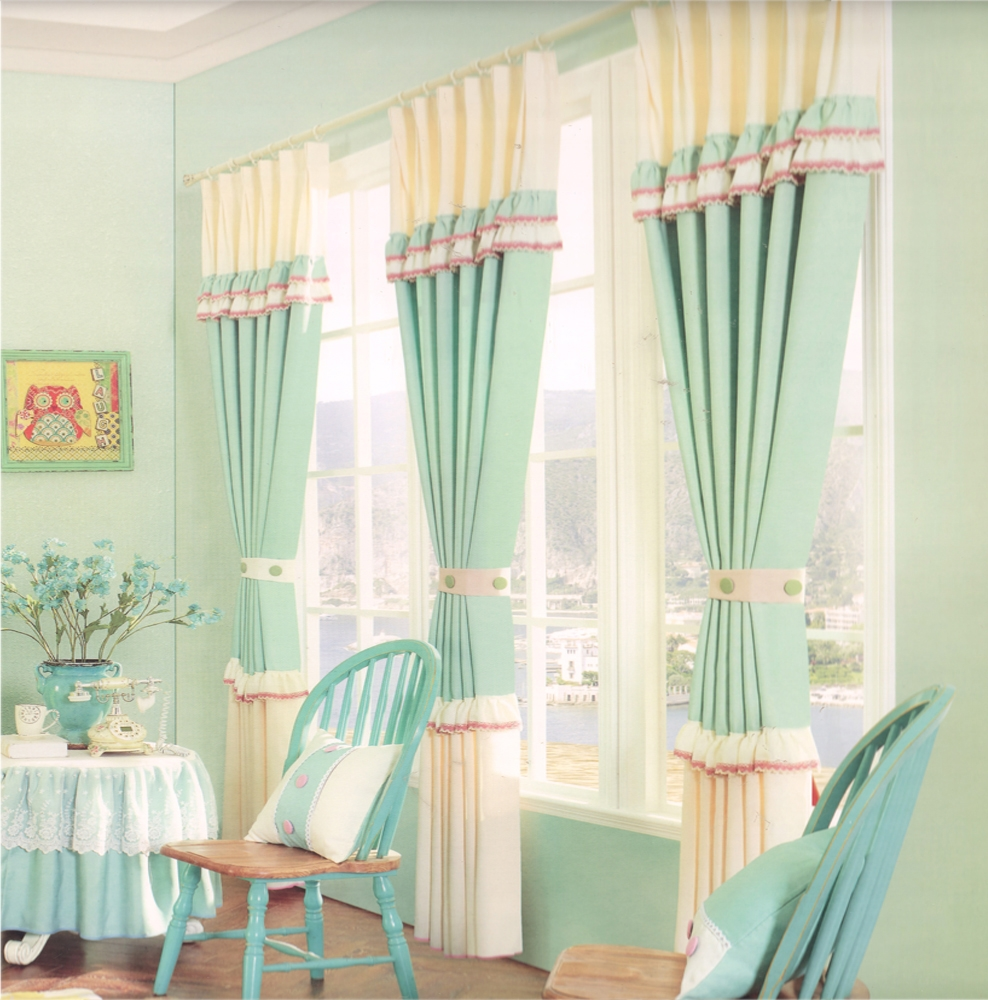 Country Cottage Curtains Sage Green Cotton Fabric Intended For Cotton Fabric For Curtains (Image 8 of 15)