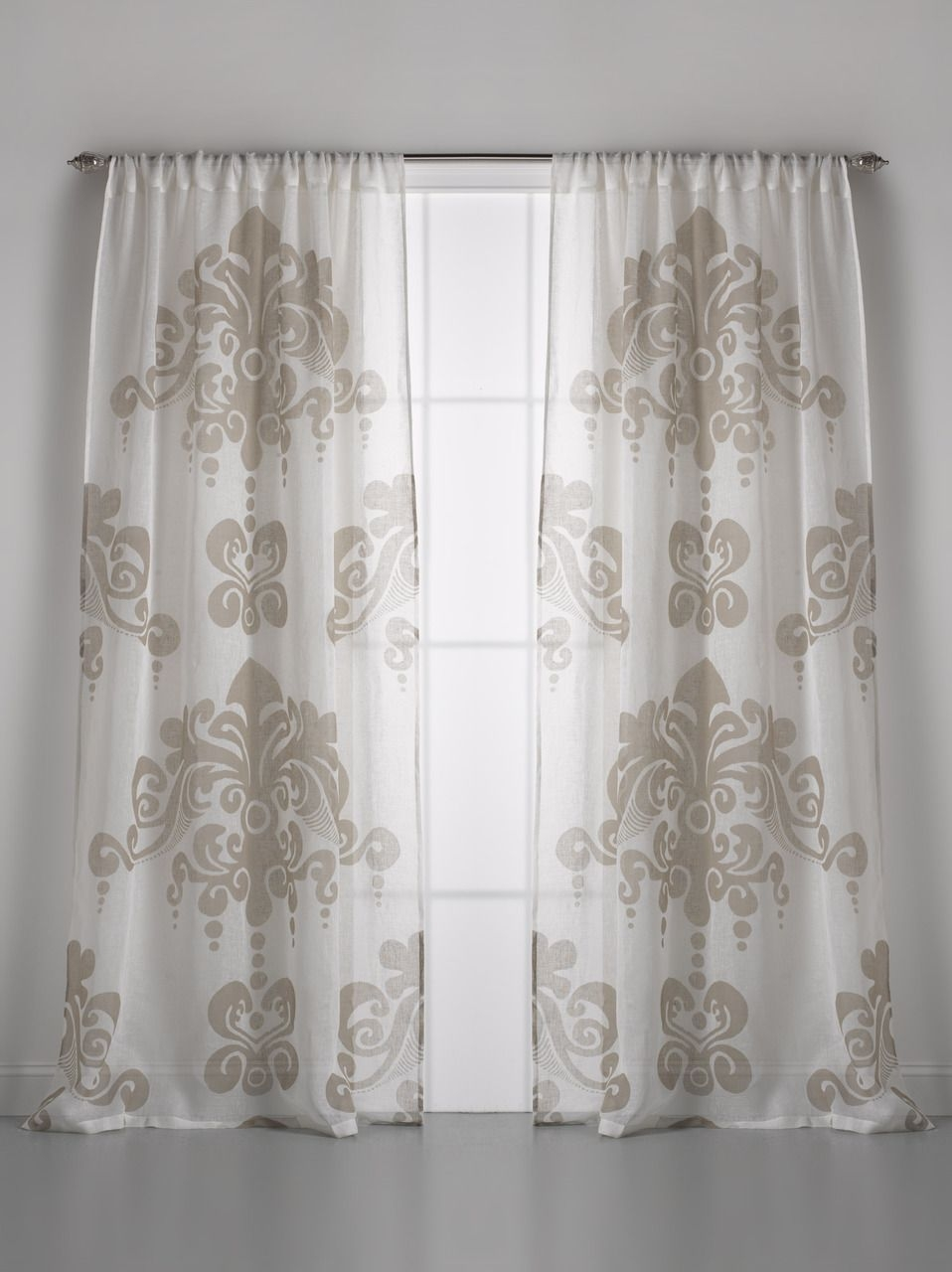 Couture Dreams Enchantique Linen Gauze Window Curtain Within Linen Gauze Curtains (Image 3 of 15)