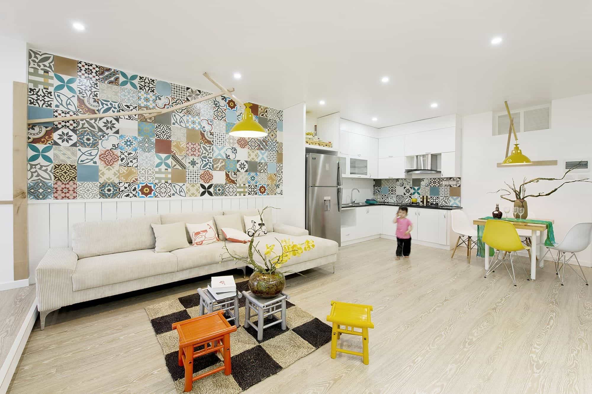 Featured Image of Cozy Apartment Interior With Ceramic Wall Tiles