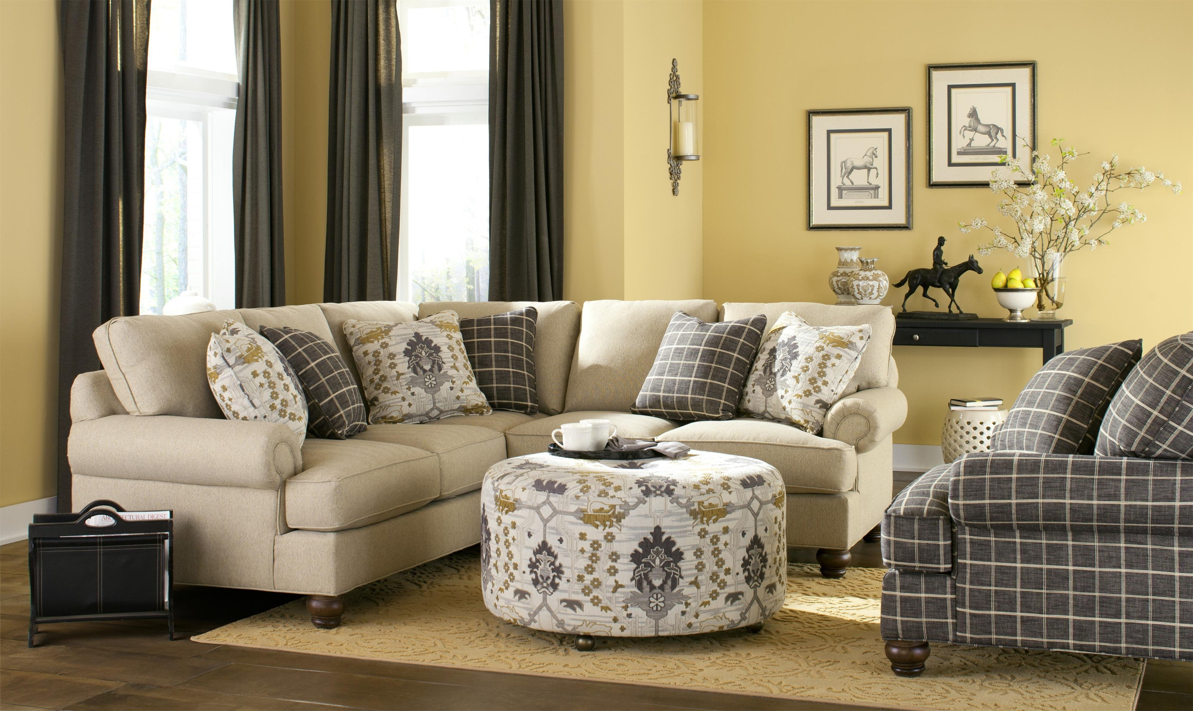 Craftmaster C9 Custom Collection Bcustomizableb Two Piece With Regard To Craftmaster Sectional Sofa (Image 5 of 15)