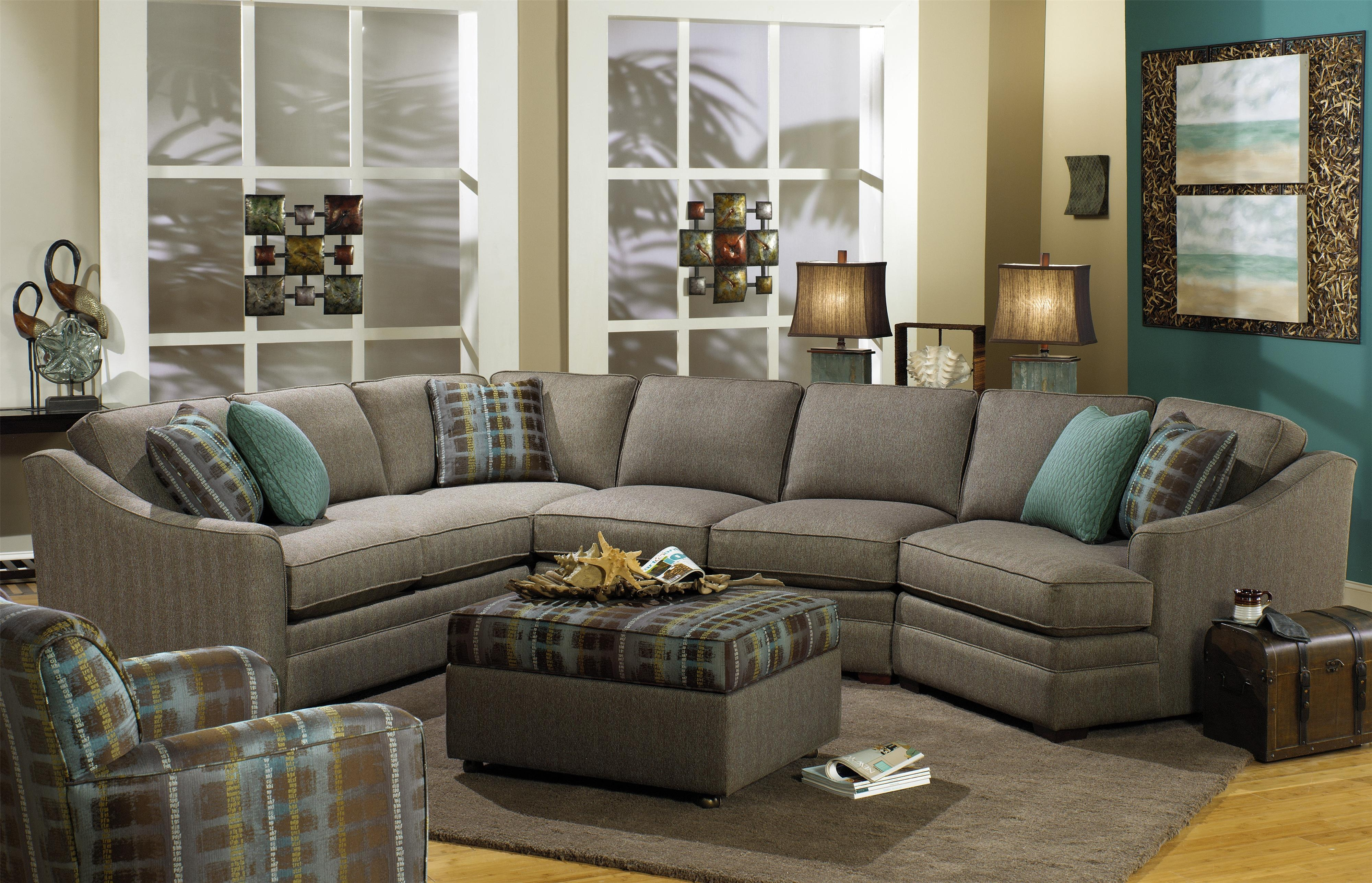 Craftmaster F9 Custom Collection Customizable 3 Piece Sectional Intended For Cuddler Sectional Sofa (Image 7 of 15)