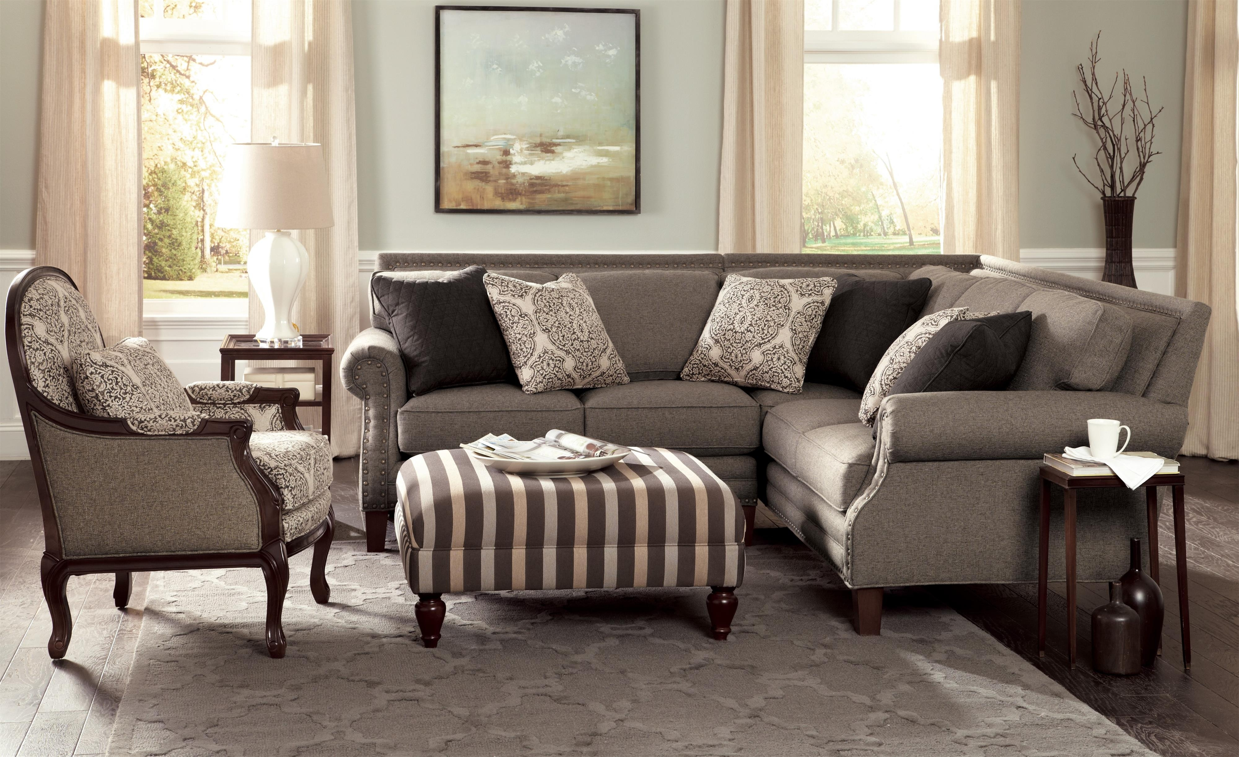 Craftmaster Nichols Two Piece Sectional Sofa With Rolled Arms And In Craftmaster Sectional Sofa (Image 12 of 15)