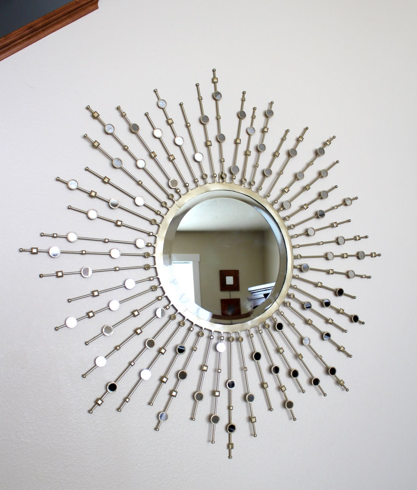 Crafty Sisters Sunburst Mirror Embellished Throughout Embellished Mirrors (Image 6 of 15)