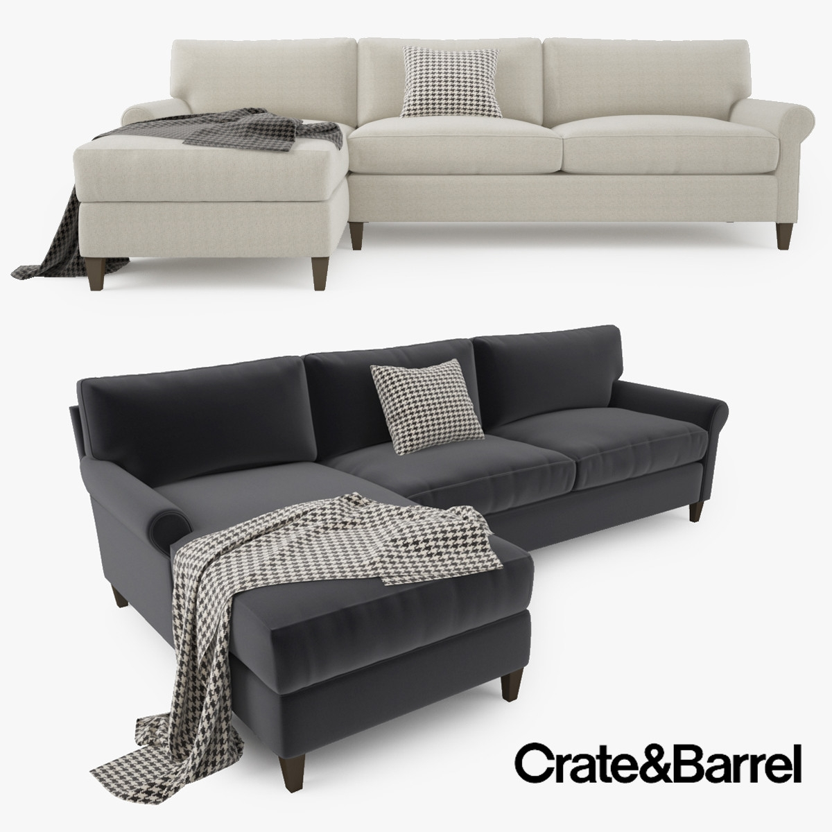 Crate Barrel Montclair 2 Model Within Crate And Barrel Sectional Sofas (Image 10 of 15)