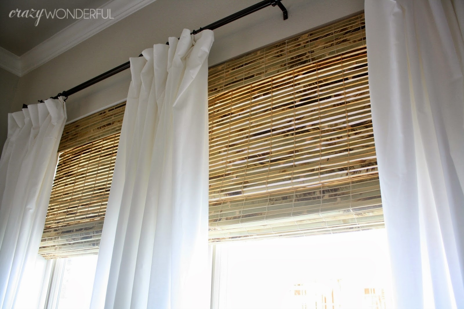 Crazy Wonderful Bamboo Roman Shades In Roman Blinds With Blackout Lining (Image 5 of 15)