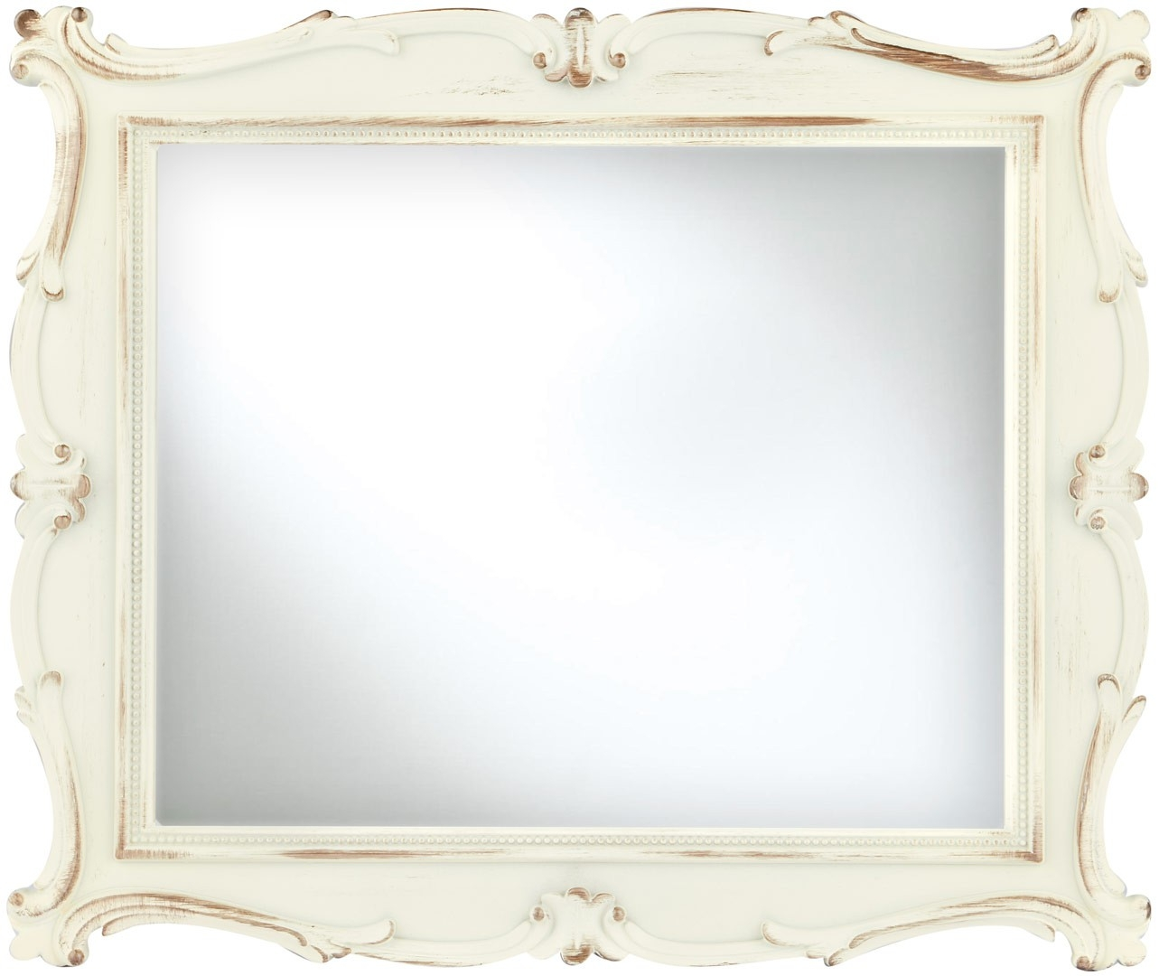 Cream Antique Mirror 20x25cm With Regard To Cream Antique Mirror (View 8 of 15)