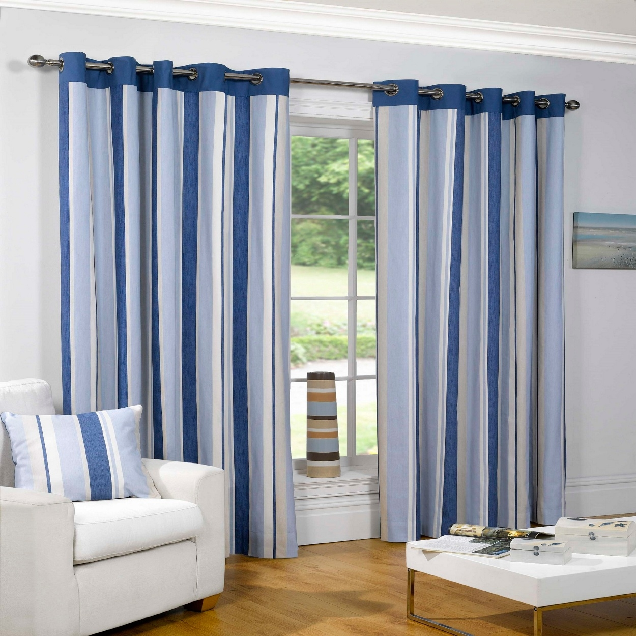 Cream Blackout Curtains Eyelet Best Curtains 2017 For Blue Blackout Curtains Eyelet (Image 2 of 15)