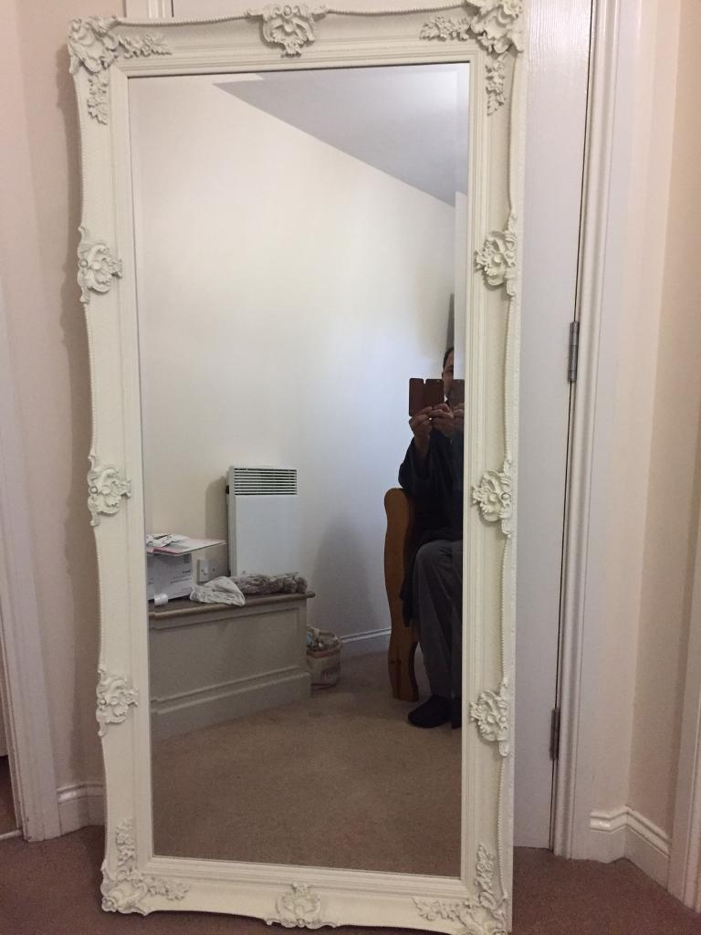 Cream Large Ornate Wall Mirror Brand New In Moortown West Pertaining To Large Cream Mirror (View 15 of 15)